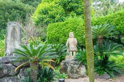 A statue of Takamori Saigo, the hero of Kagoshima