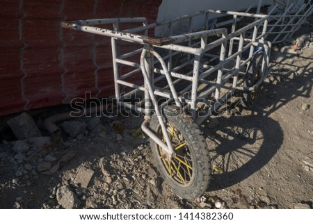 A steel barrow for the construction #1414382360