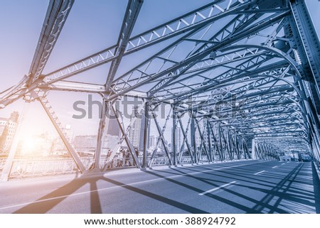 A steel bridge in Shanghai