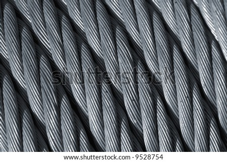 a steel wire cable close up.