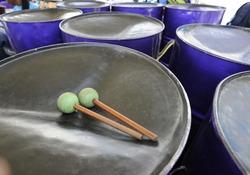 A Steelband player's sticks & pans