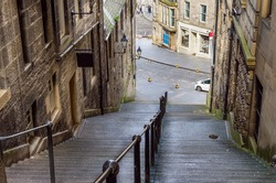 A Steep Flight of Stairs in Old Town Edinburgh