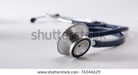 A stethoscope in the shape of a hear