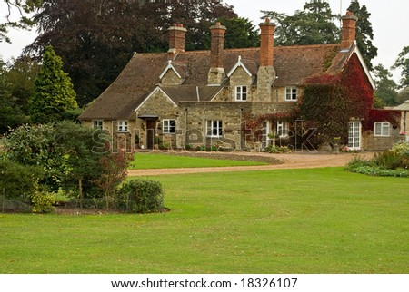 A stone and pantile English country house