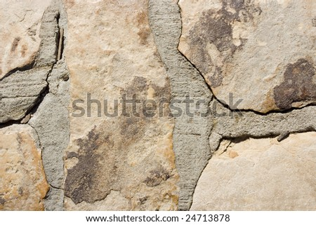 A stone wall texture that has been grouted together