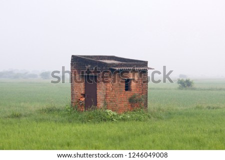 A Store room Center of Paddy Field for agricultural Tools at Tamil Nadu in India
