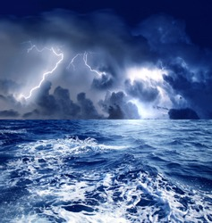 a storm on the sea