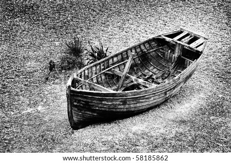 A stranded boat