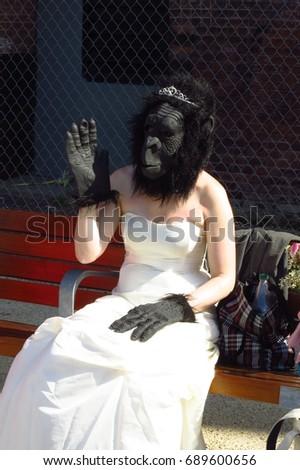 A strange bride says hello   #689600656