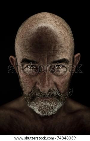 A strange old man with a grey beard