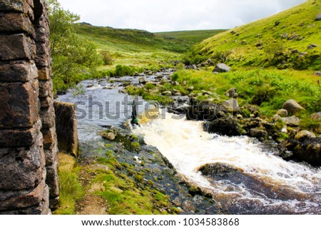 a stream and leat gate in tavy...
