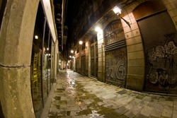 A street from the gothic quarter (