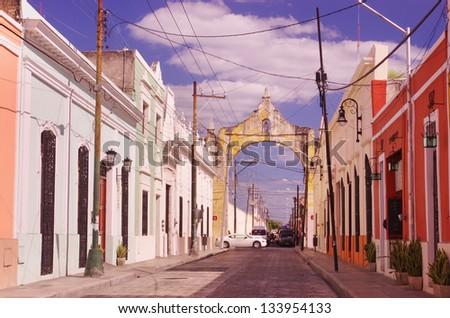 a street in Merida, Yucatan, Mexico