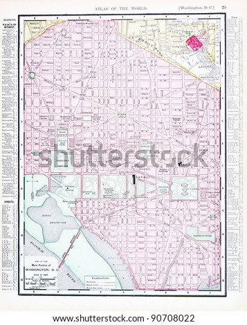 a street map of washington  dc  ...