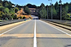 A street on the bridge in the forest in Pichilemu in Chile Southamerica