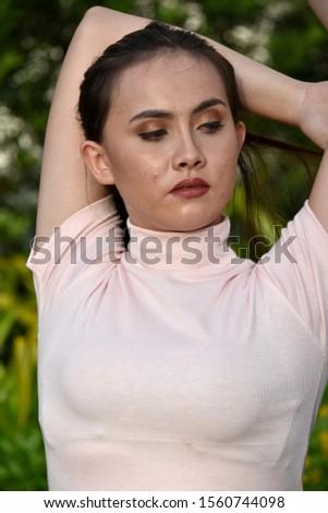 A Stretching Beautiful Minority Female