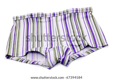 a stripped square leg suit isolated on a white background