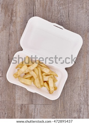 A studio photo of a conceptuel lunch at work image Stockfoto ©