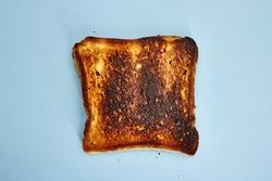 A studio photo of burnt toast