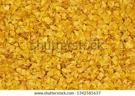 A studio photo of corn flakes #1342585637