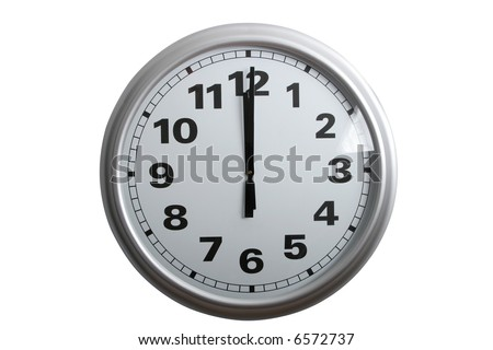 Clock Face Showing 12 O'clock Clock Showing 12 O'clock