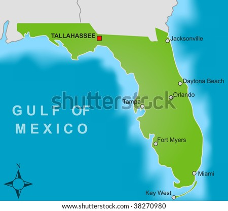 States That Border Florida Borders And Nearby States