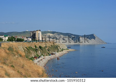 A suburb of the city of Anapa, the city beach, Krasnodar territory, Russia