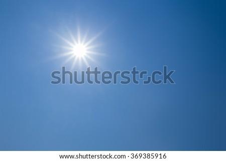 A sun with empty blue sky #369385916