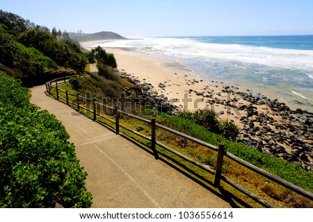 A sunny day at Lighthouse Beach at Ballina on the north coast of NSW Australia.