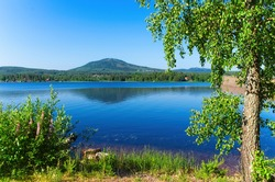 A sunny summer morning around lake siljan, nestled between forests and rolling hills in beautiful Dalarna,Sweden.