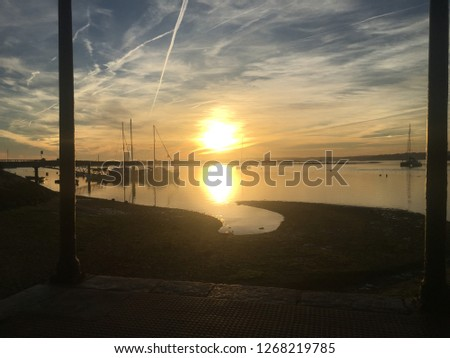 A sunset in Alvor Portugal