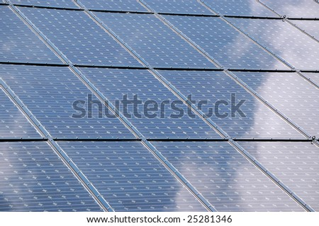 A surface with solar panels.