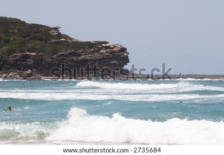 A surfing beach in Australia