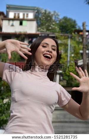 A Surprised Beautiful Filipina Female #1521281735