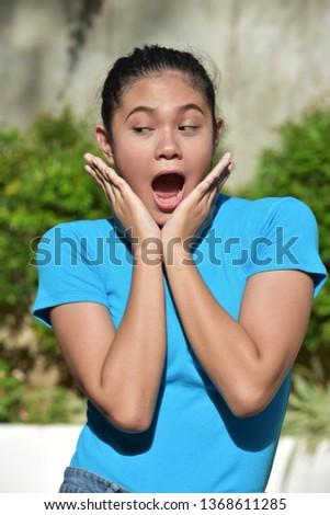 A Surprised Filipina Female