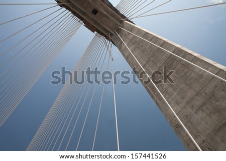 A suspension bridge. #157441526