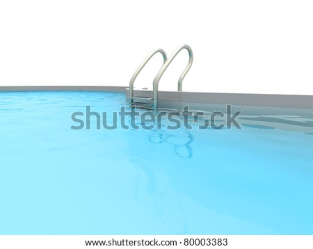 A Swimming pool. 3D rendered Illustration.