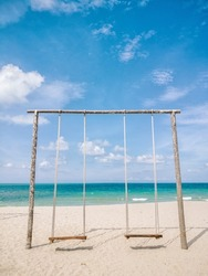 A swing at Penarik Beach, Terengganu, This image have some noise because using high iso when captured this image.
