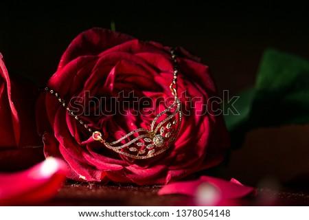 a symbol of Indian wedding, mangalsutra.