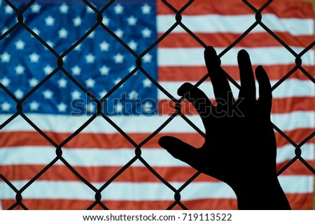 Shutterstock A symbolic representation of immigrants and the united states of america