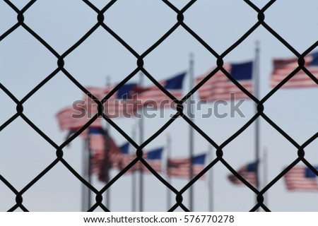 Shutterstock a symbolic representation of the united states and foreigners