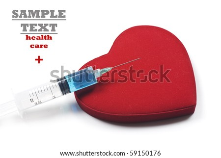 a Syringe ready to inject a red heart