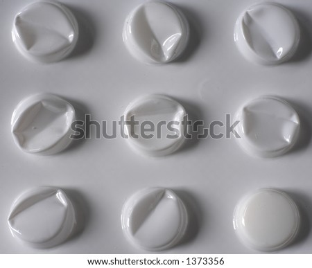 A tablet blister pack with only one tablet left
