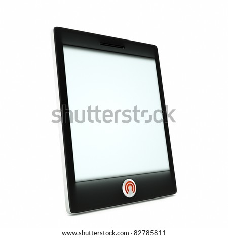 a tablet computer isolated on white