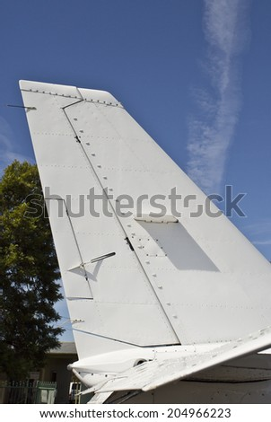 A tailplane, also known as horizontal stabilizer, is a small lifting surface located on the tail behind the main lifting surfaces of a fixed-wing aircraft.