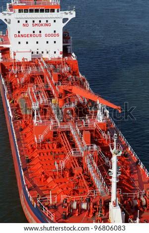 a tanker on Kiel Canal