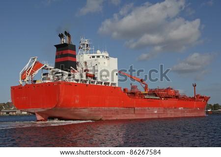 a tanker on the Kiel Canal