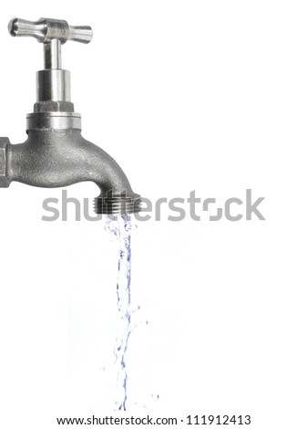 A tap isolated against a white background