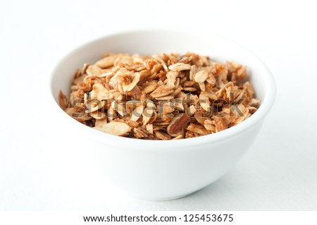 a tasty bowl of hand made granola, a healthy choice