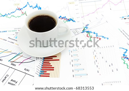 a tasty cup of coffee with the stock charts